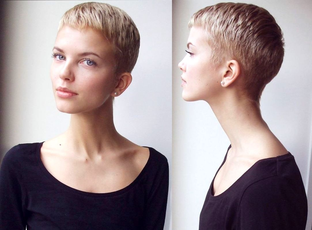 Shaved Nape Pixie Cuts