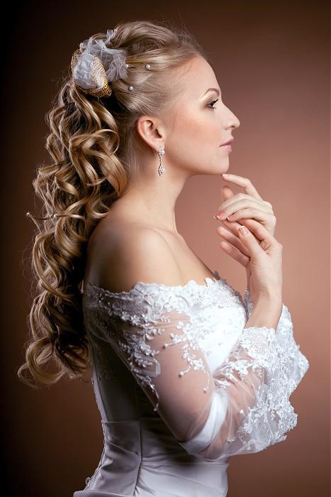 Fryzura ślubna Długie Kręcone Włosy Fryzury Galeria