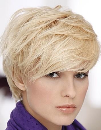 Jasny Blond Włosy Cieniowane Krótkie Fryzury Galeria