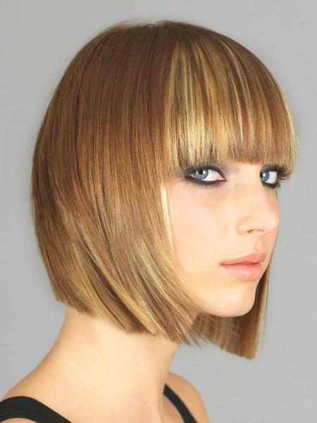 Miodowy Blond Bob Fryzury Galeria