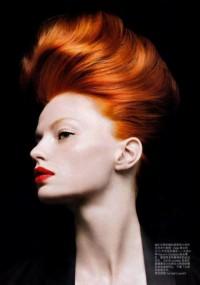 piękne rude włosy
