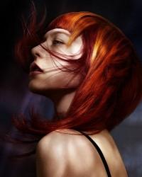 ogniste rude włosy
