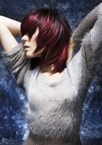 czerwone włosy, cieniowane końce