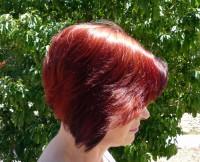 czerwone włosy, bob