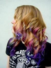 kolorowe ombre, loki