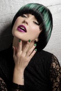paź, zielone włosy