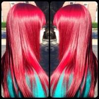 proste czerwone włosy