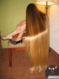 bardzo długie włosy