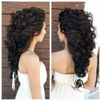 piękna bujna fryzura