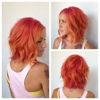 pomarańczowe włosy