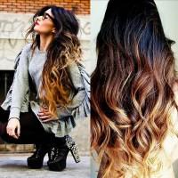 piękne ombre na długich włosach