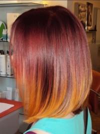 pomarańczowe ombre