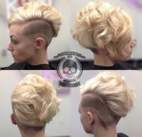 blond włosy z wygolonym bokiem