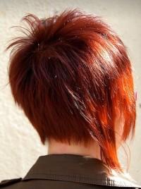 krótkie cieniowane włosy