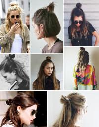 Pół kok na każda długość włosów