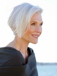 eleganckie siwe włosy