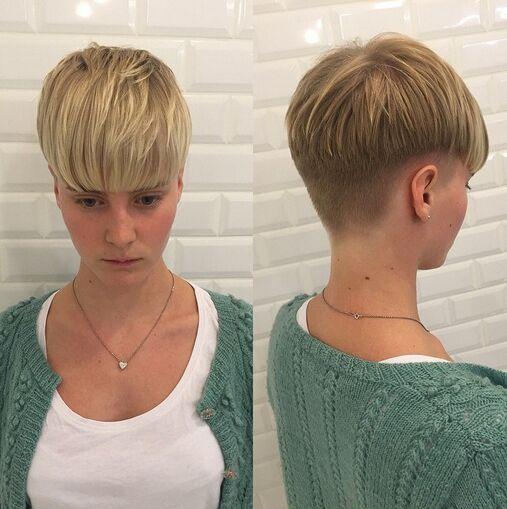 krótkie włosy prosta grzywka