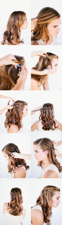 Waterfall Braid Wedding Hairstyles for Long Hair | Hairstyles | Hair-photo.com