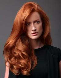 puszyste rude włosy