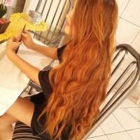 cudne mega długie rude włosy