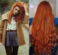 romantyczne długie rude włosy