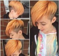 krótkie rude włosy z wygolonym bokiem
