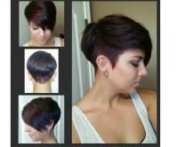 krótka fryzura z wygolonym bokiem