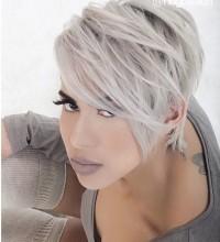 fajna krótka fryzura, skandynawski blond