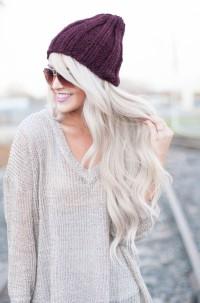 długie platynowe włosy