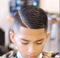 fryzura dla chłopca, dodatkowy przedziałek