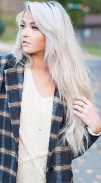 fryzury 2016 długie platynowe blond włosy
