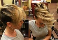 piękna krótka fryzura z długą grzywką