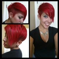 krótka fryzura propozycja dla czerwonych włosów