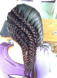 fryzura z trzech warkoczy