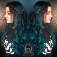 zielone włosy