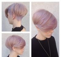 różowy blond, bob