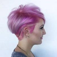 fajne różowe krótkie włosy
