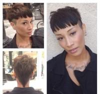 fajna fryzurka dla krótkich włosów z grzywką