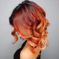 piękne rude loki ombre