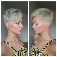 fryzury dla krótkich włosów, blond twarzowa fryzura